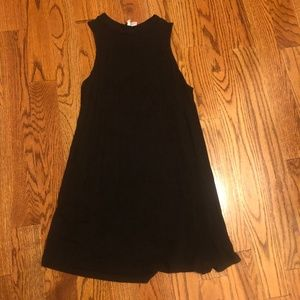 Divided Black High Neck Tank Dress Small